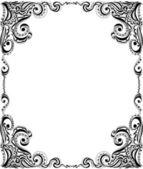 Diseño de plantilla del marco para la tarjeta. patrón floral. — Vector de stock