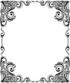 Template frame design for card. Floral pattern. — ストックベクタ