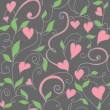 Seamless background with hearts ornament — Imagen vectorial
