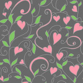 Seamless background with hearts ornament — Vector de stock