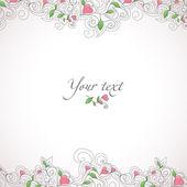 Plantilla de tarjeta con corazones — Vector de stock