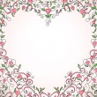 Royalty-Free Stock Imagem Vetorial: Heart-shaped frame