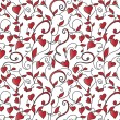 Background with hearts ornament — Stok Vektör