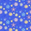 Seamless pattern with flowers — Imagen vectorial