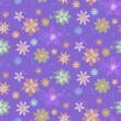 Seamless background with hand-drawn flowers — ベクター素材ストック
