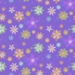 Seamless background with hand-drawn flowers — Stockvectorbeeld