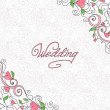 Stockvektor : Wedding card