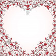 Heart-shaped frame - Imagen vectorial
