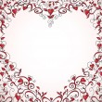 Heart-shaped frame — Stock Vector