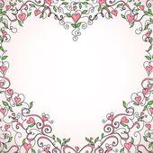 Cadre en forme de coeur — Vecteur