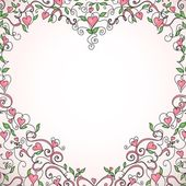 Heart-shaped frame — Stockvector