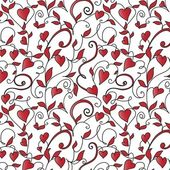 Background with hearts ornament — Stock Vector