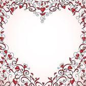 Srdce tvarovaný rám — Stock vektor