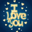 """I Love you"" lettering — Foto de Stock"