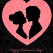 Valentine's day card - Stockvectorbeeld