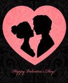 バレンタインデーのカード — ストックベクタ