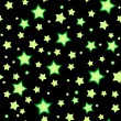 Seamless bacgkround with cartoon fluorescent stars — Vector de stock #22249761