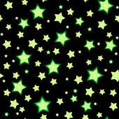 Seamless bacgkround with cartoon fluorescent stars — Stock Vector
