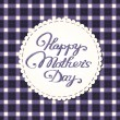 "Stok Vektör: ""Happy mother's day"" card, embroidered letters."