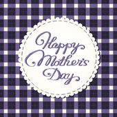 """Happy mother's day"" card, embroidered letters. — Stockvector"