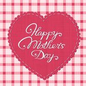 """Happy mother's day"" card — Stockvector"