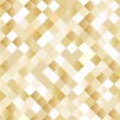 Seamless background with shiny golden squares — Stok Vektör