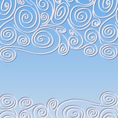 Lace frame with spirals pattern — Vector de stock