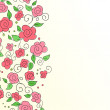 Wektor stockowy : Background with hand drawn flower pattern