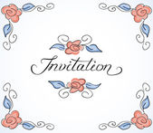 Invitation card with floral pattern — Stock Vector