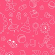 Stockvektor : Seamless children background