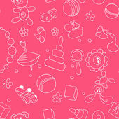 Seamless children background — Stockvector