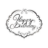 Happy birthday lettering — Stock Vector