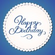 Happy birthday card — Vector de stock #24509139