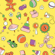 Seamless children background — Stockvektor #24511113