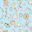 Seamless children background — Imagen vectorial