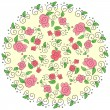 Round floral pattern — Stock Vector