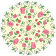 Round floral pattern — Stockvectorbeeld