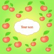 Card with apple background — Imagen vectorial