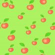 Seamless apple background — Stock Vector