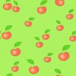 Seamless apple background — Stock Vector
