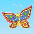 Cartoon happy butterfly — Stockvectorbeeld