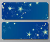 Banners with night sky background — Vector de stock