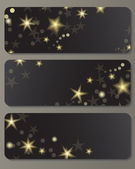 Banners with shiny stars — Vector de stock