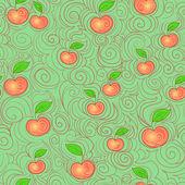 Sfondo apple senza soluzione di continuità — Vettoriale Stock