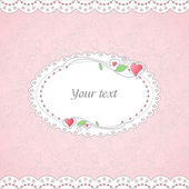 Template of romantic card — Vector de stock