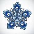 Blue flower pattern. Hand drawn style — Imagen vectorial