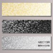 Stockvector : Set of banners with shiny metallic paillettes