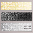 Set of banners with shiny metallic paillettes — Vector de stock #25688751