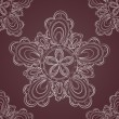 Seamless lace pattern fantasy flowers — Imagen vectorial