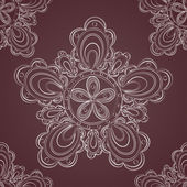 Seamless lace pattern fantasy flowers — Stock Vector